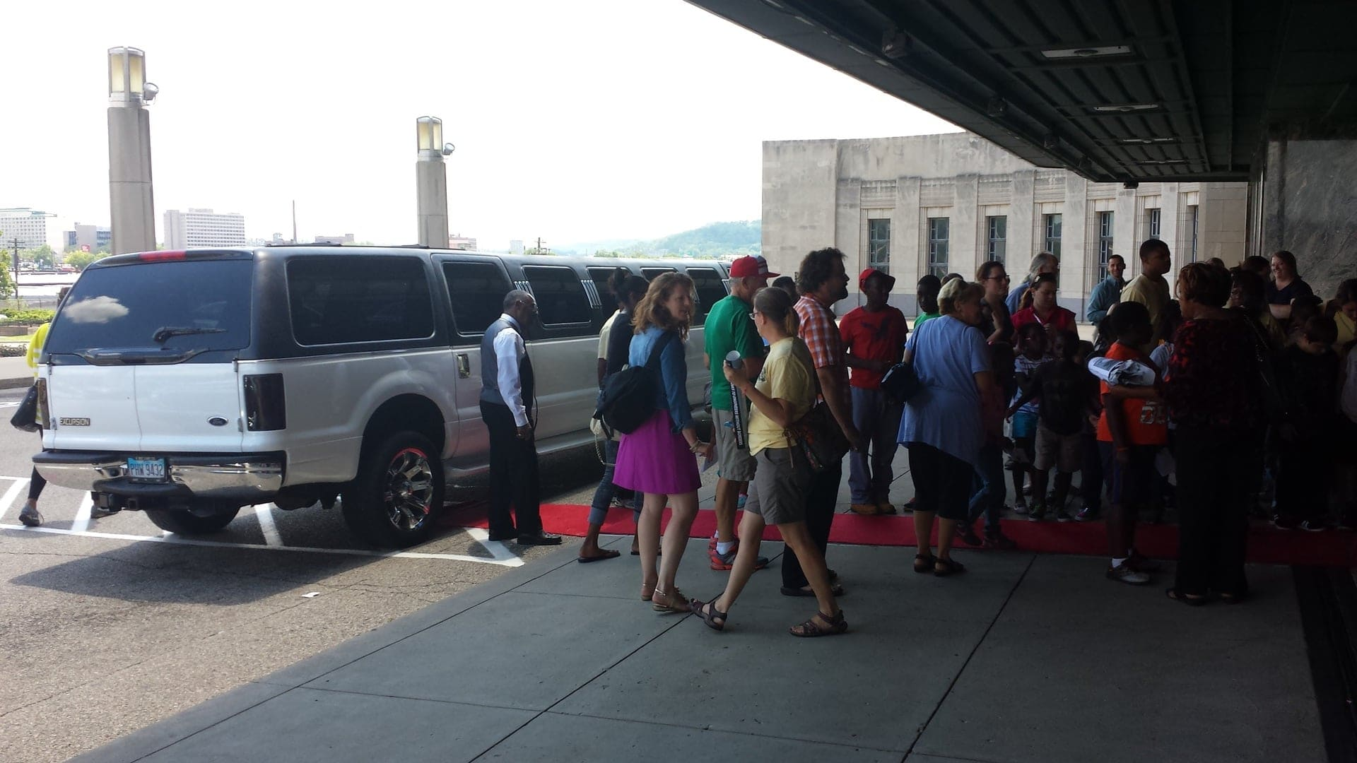 Happen Red Carpet Movie Premier. The filmmakers on the way to the limo.