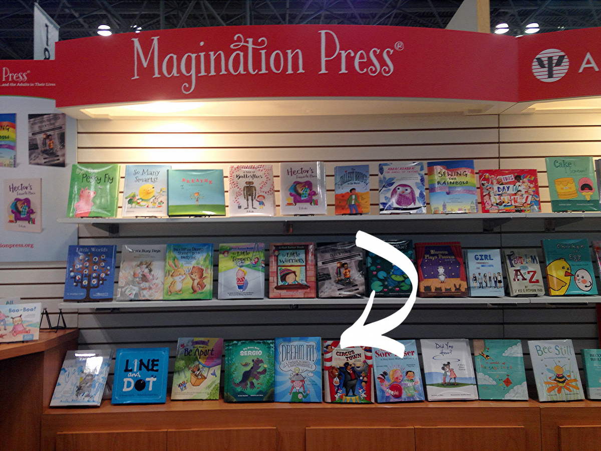 Dream It! makes its debut in the Magination Press booth at the NYC Book Expo 2018