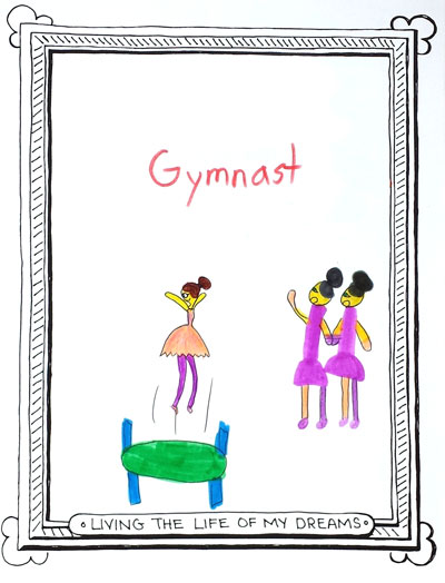Illustration of a dream to be a gymnast