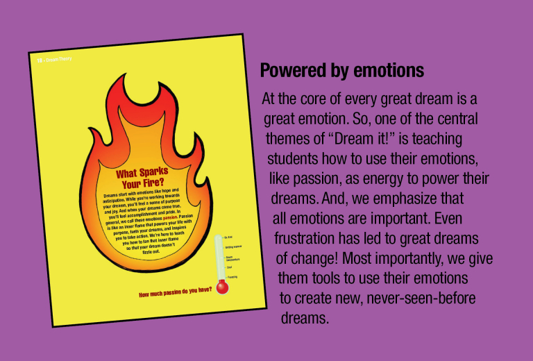 Dream It! is powered by emotions.
