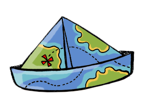 Step 2 Map it! Symbolized by the paper hat made from a treasure map.