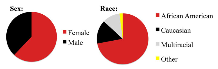 Graph participant gender race