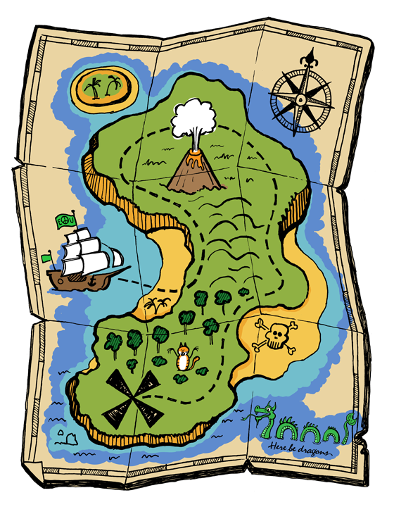 Pirate's Treasure Map