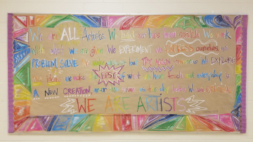 """We are all artists,"" Barbara Rucci. A beautiful quote that is synonymous with what it means to be a dreamer."
