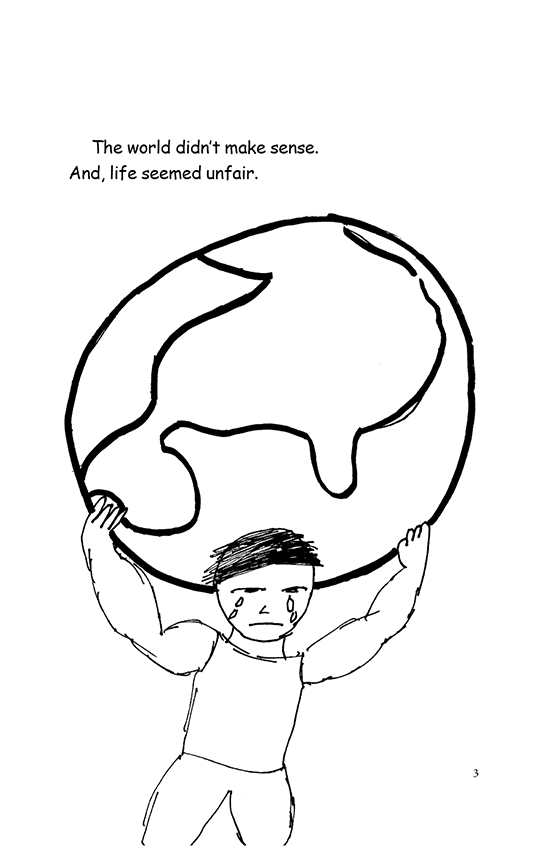 Illustration: Scott holding the world on his shoulders.