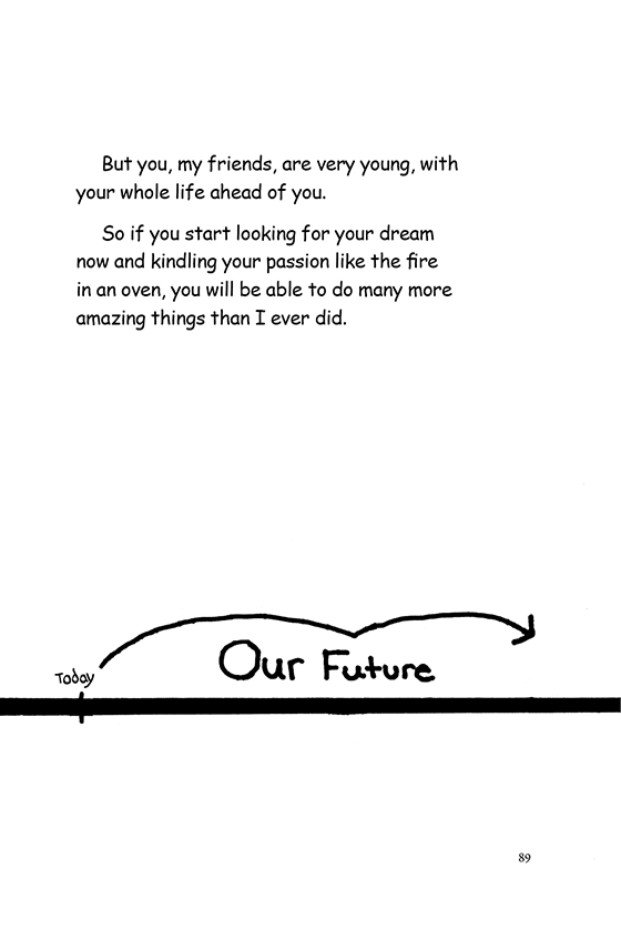 "Illustration: A timeline with an arrow pointing from ""Today"" to ""Our Future."""