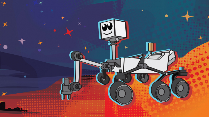 Mars rover cartoon