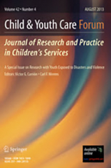 Child and Youth Care Forum. August 2020. Journal cover.