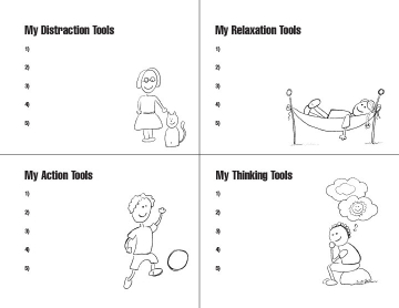 Mental Health Checkup and Toolkit page 2. Fill-in-the-blank worksheet.