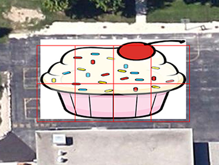 A satellite view of my giant cupcake.