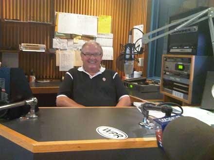 In the studio with Larry Meiller of Wisconsin Public Radio.