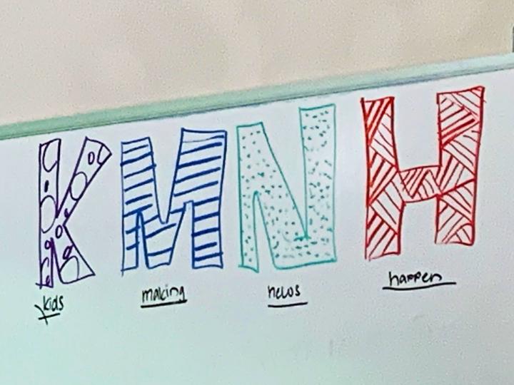 KMNH Kids Making the News Happen Marker Board